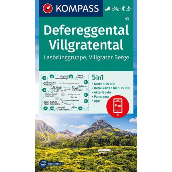 KOKA 45 DEFEREGGENTAL - Wanderkarte