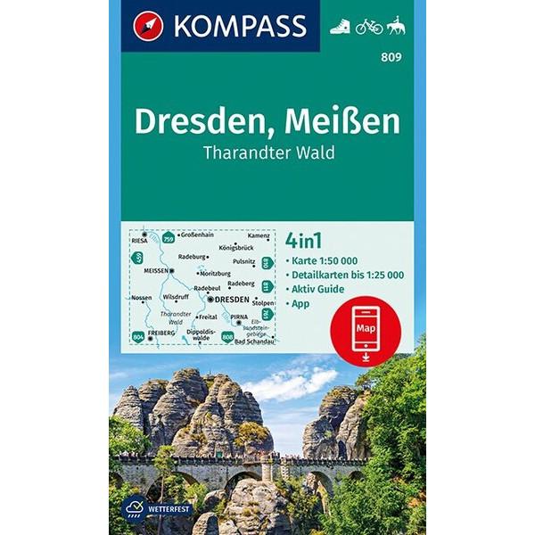 KOKA 809 DRESDEN, MEIßEN - Wanderkarte