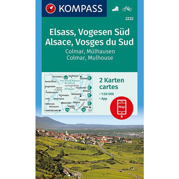 KOKA 2222 ELSASS, VOGESEN SÜD - Wanderkarte