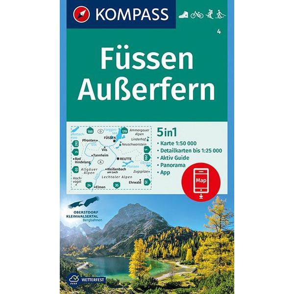 KOKA 4 FÜSSEN, AUßERFERN - Wanderkarte