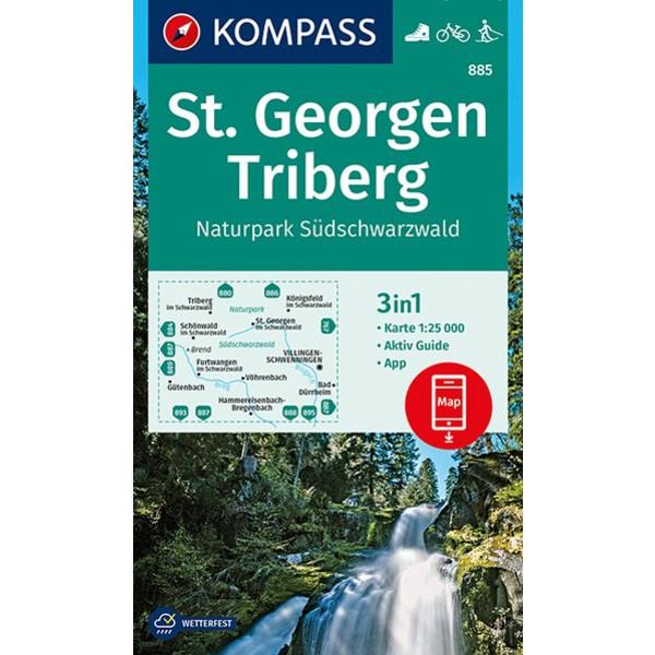 KOKA 885 ST. GEORGEN, TRIBERG - Wanderkarte