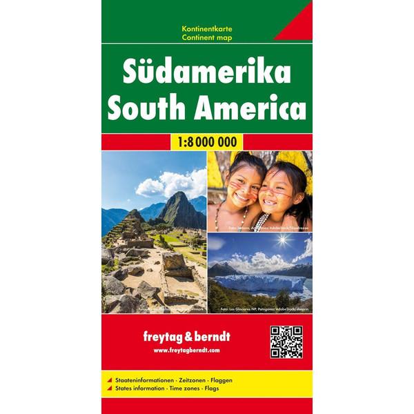 Südamerika, Kontinentkarte 1:8 000 000 - Straßenkarte