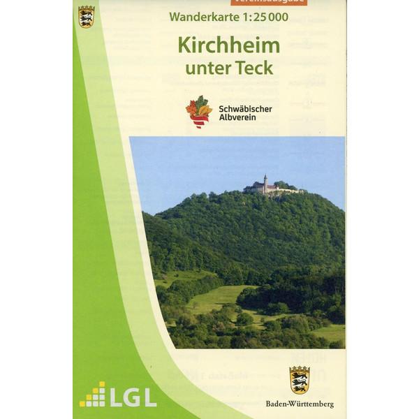 Karte des Schwäbischen Albvereins Kirchheim/Teck 1:25.000 - Wanderkarte