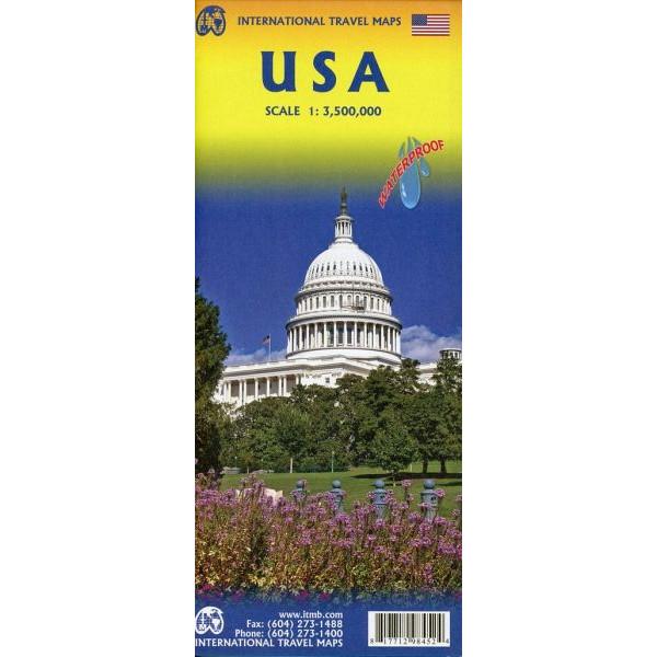 USA 1:3 500 000 - Straßenkarte