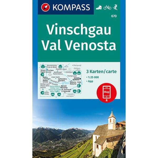 KOKA 670 VINSCHGAU, VAL VENOSTA 3ER SET - Wanderkarte