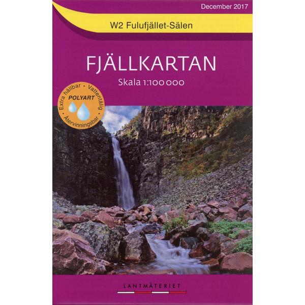 Fjällkartan Bergwanderkarte 1 : 100 000 W2 Fulufjället - Sälen - Wanderkarte