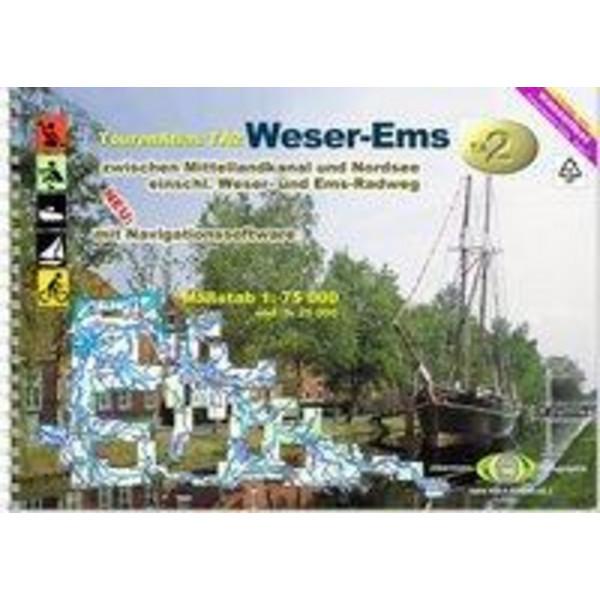 TourenAtlas Wasserwandern 02. Weser - Ems 1 : 75 000 - Wasserkarte