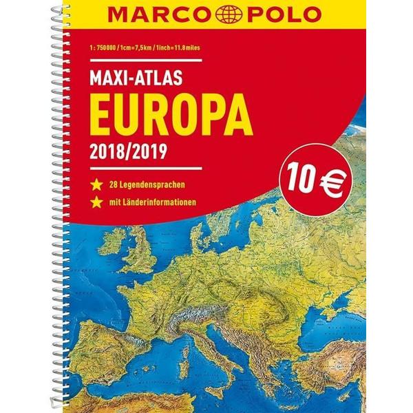 MARCO POLO Maxi-Atlas Europa 2018/2019 - Straßenkarte