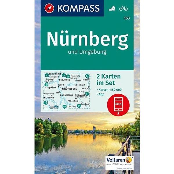 KOMPASS Wanderkarte Nürnberg und Umgebung 1:50 000 - Wanderkarte
