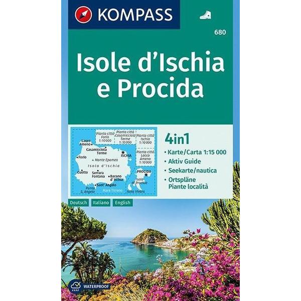KOMPASS Wanderkarte Isole d' Ischia e Procida 1:50 000 - Wanderkarte
