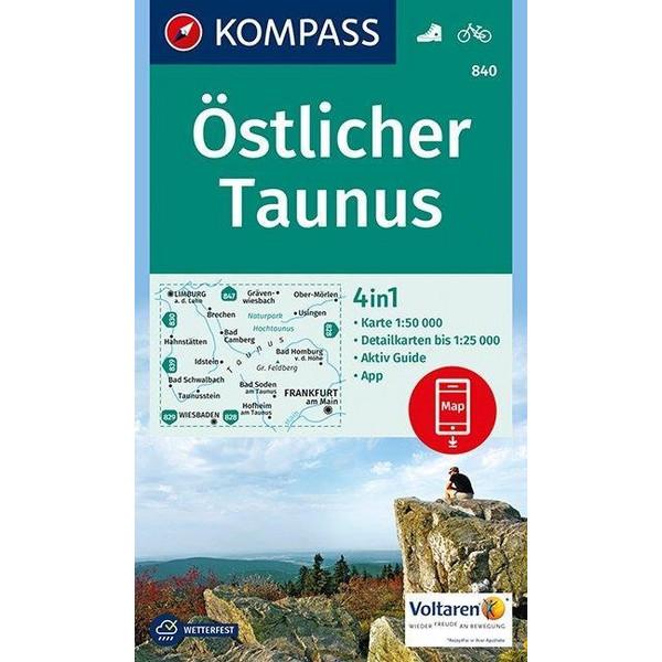 KOMPASS Wanderkarte Östlicher Taunus 1:50 000 - Wanderkarte