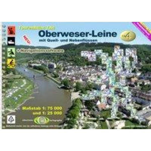 TourenAtlas 04. Oberweser-Leine Wasserwandern 1 : 75 000 - Wasserkarte