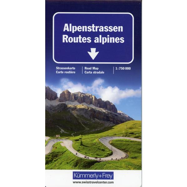 Alpenstrassen Strassenkarte 1 : 750 000 - Straßenkarte
