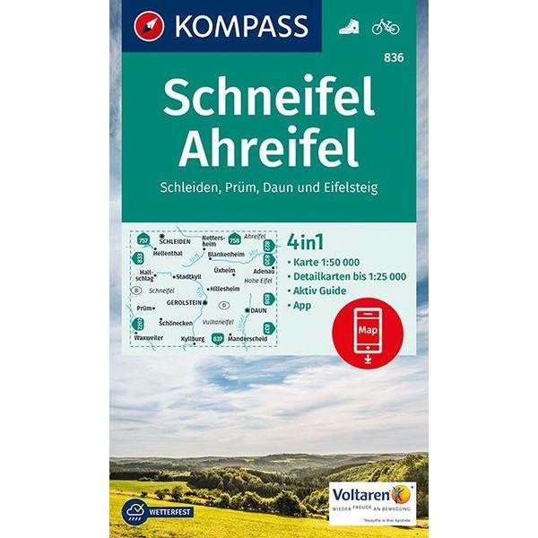 KOKA 836 SCHNEIFEL, AHREIFEL - Wanderkarte