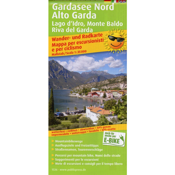 Gardasee Nord, Alto Garda, Lagod'Idro, Monte Baldo, Riva del Garda 1:35 000 - Wanderkarte
