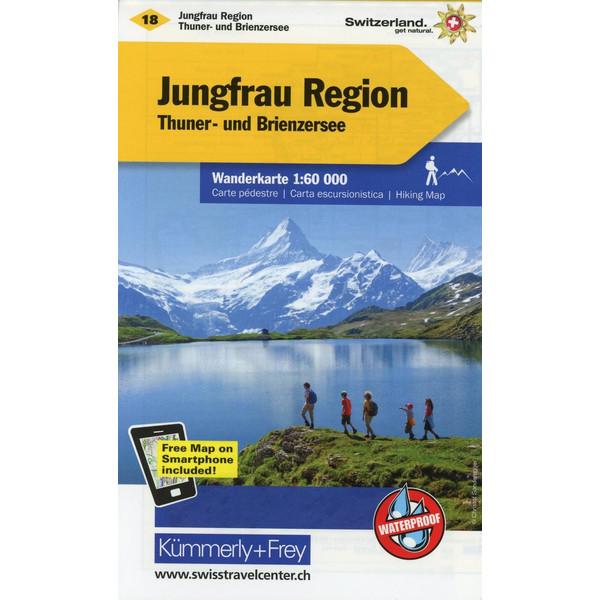 KuF Schweiz Wanderkarte 18 Jungfrau-Region 1 : 60 000 - Wanderkarte
