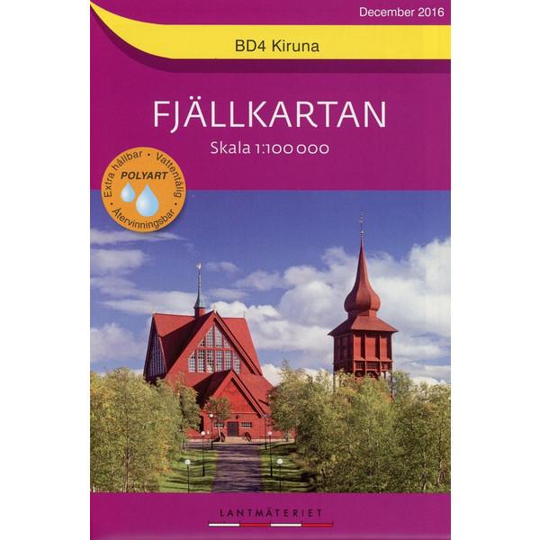 Fjällkartan 1 : 100 000 BD4 Kiruna Bergwanderkarte 1 : 100 000 - Wanderkarte