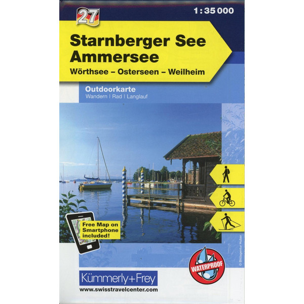 KuF Deutschland Outdoorkarte 27 Starnberger See - Ammersee 1 : 35.000 - Wanderkarte