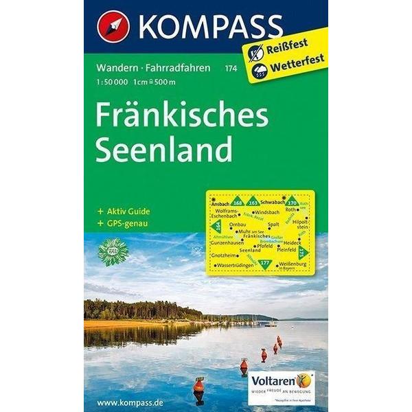 Fränkisches Seenland 1:50 000 - Wanderkarte