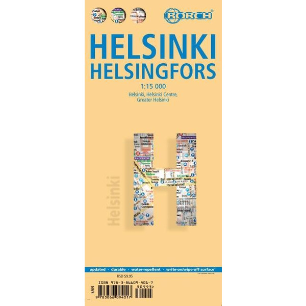 Helsinki, Borch Map - Straßenkarte