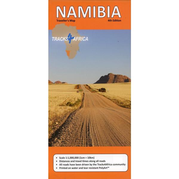 Namibia GPS-Tracks Karte 1 : 1 000 000 - Straßenkarte