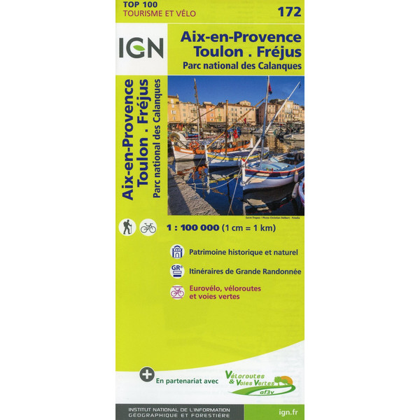 IGN 1 : 100 000 Toulon / Aix-En-Provence - Straßenkarte