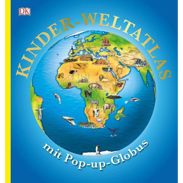 KINDERWELTATLAS MIT POP-UP GLOBUS - Kinderbuch
