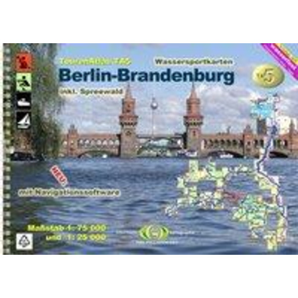 Touratlas Nr. 5  Berlin - Brandenburg - Wasserkarte