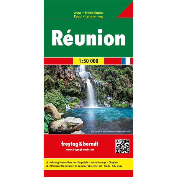 Réunion, Autokarte 1:50.000 - Straßenkarte