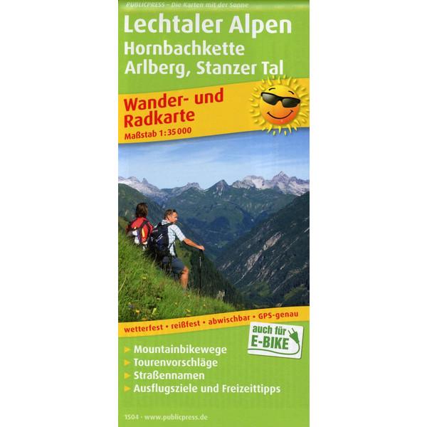 Lechtaler Alpen, Hornbachkette, Arlberg, Stanzer Tal Wander- und Radkarte 1 : 35 000 - Wanderkarte