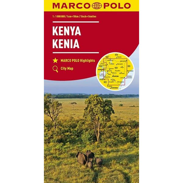 MARCO POLO Länderkarte Kenia 1:1 000 000 - Straßenkarte