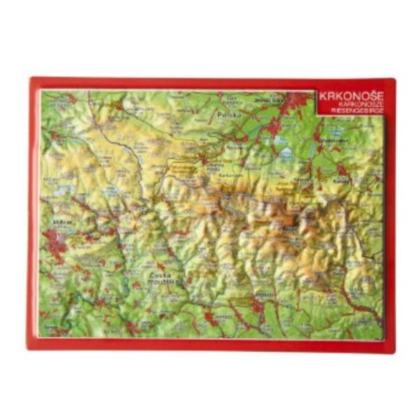 Reliefpostkarte Pyrenäen
