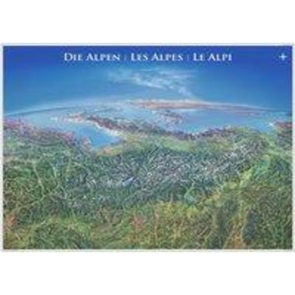 Panoramakarte Alpen