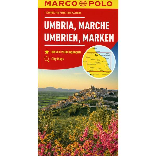 Marco Polo Karte Italien 8 Umbrien Marken 1 200 000 Marco Polo