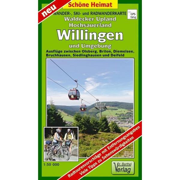 Wander-, Ski- und Radwanderkarte Waldecker Upland, Hochsauerland, Willingen und Umgebung 1:30 000 - Wanderkarte