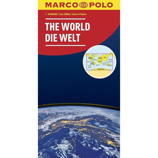 MARCO POLO Karte Die Welt 1:30 000 000 (politisch) - Straßenkarte
