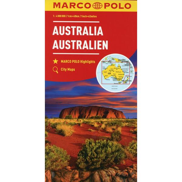 MARCO POLO Kontinentalkarte Australien 1:4 000 000 - Straßenkarte