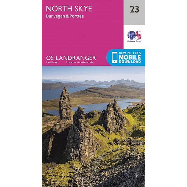 North Skye, Dunvegan & Portree 1 : 50 000 - Wanderkarte