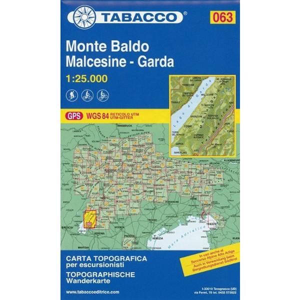 Monte Baldo, Malcesine-Garda - Wanderkarte