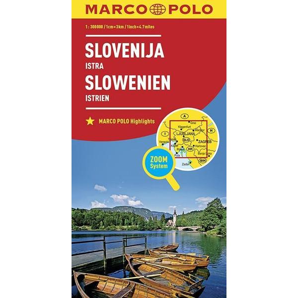 MARCO POLO Länderkarte Slowenien, Istrien 1:300 000 - Straßenkarte