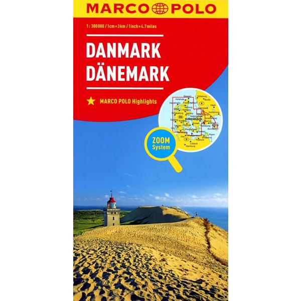MARCO POLO Länderkarte Dänemark 1:300 000 - Straßenkarte