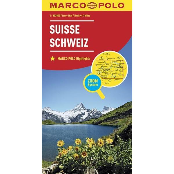 MARCO POLO Länderkarte Schweiz 1:303 000 - Straßenkarte
