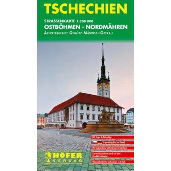 Höfer Tschechische Republik CS003 Ostböhmen - Nordmähren 1 : 200 000 - Straßenkarte
