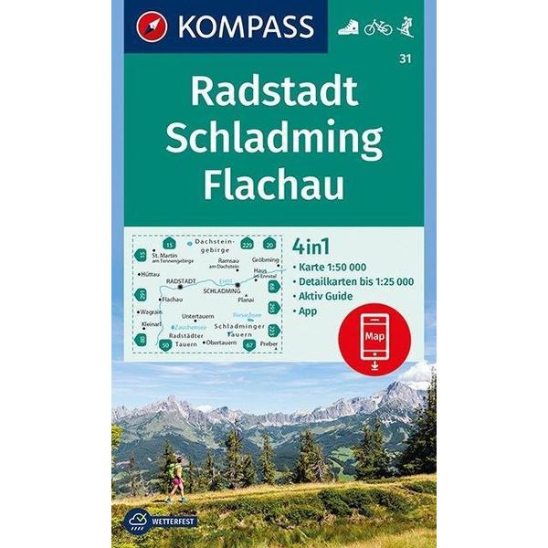 Radstadt, Schladming, Flachau 1:50 000 - Wanderkarte