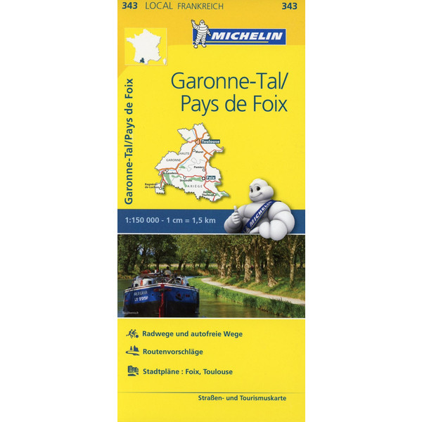 Michelin Garonne-Tal - Pays de Foix 1 : 150 000