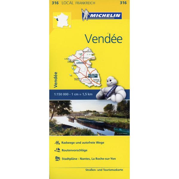 Michelin Localkarte Vendee 1 : 150 000