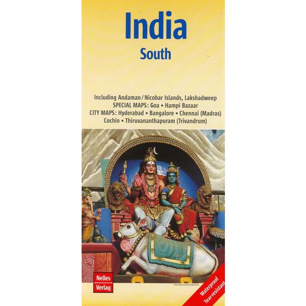 Nelles Map India: South 1:1 500 000 - Wanderkarte