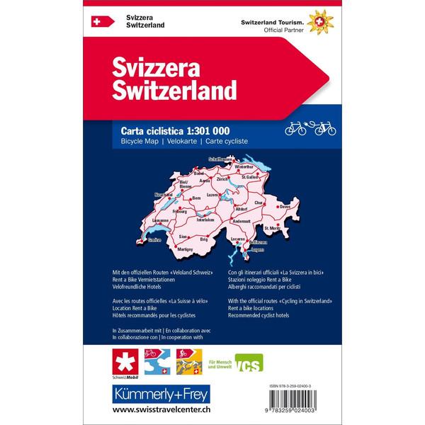 KuF Schweiz Radreisekarte 1 : 301 000 - Wanderkarte