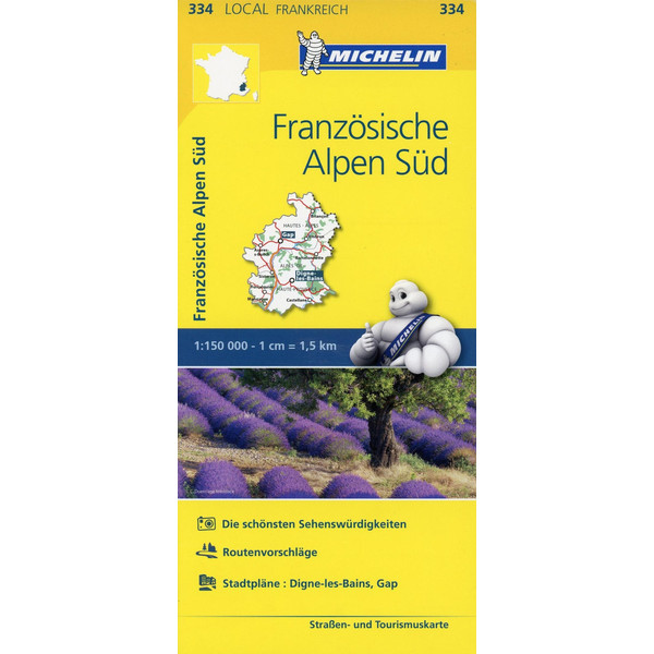 Michelin Französische Alpen Süd - Straßenkarte