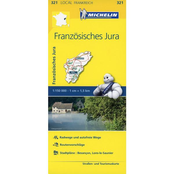 Michelin Französisches Jura - Straßenkarte